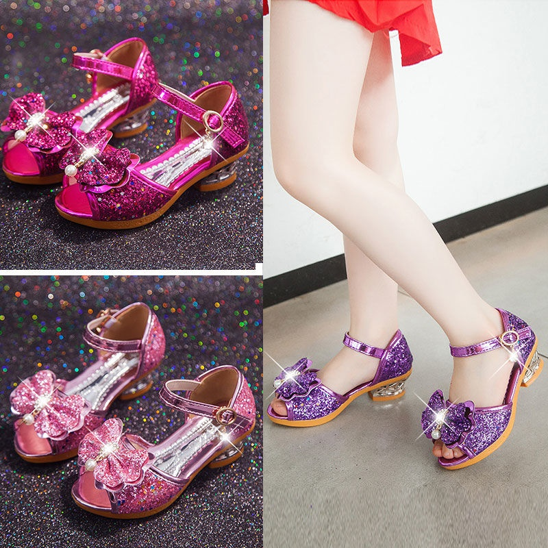 儿童凉鞋女童鞋夏季2019新款小女孩公主鞋高跟中大童小孩凉鞋学生
