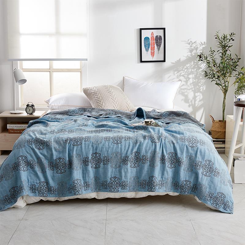 毛巾被纯棉纱布单双人空调盖毯薄款婴童毯子四季床单夏凉被