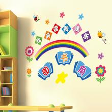 幼儿园墙面装饰贴纸墙贴小学班级教室布置文化墙图书角墙壁纸自粘