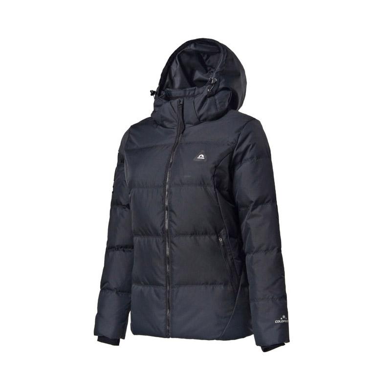 361度女裝2018官方正品冬季保暖短款羽絨服361冬季黑色運動外套女