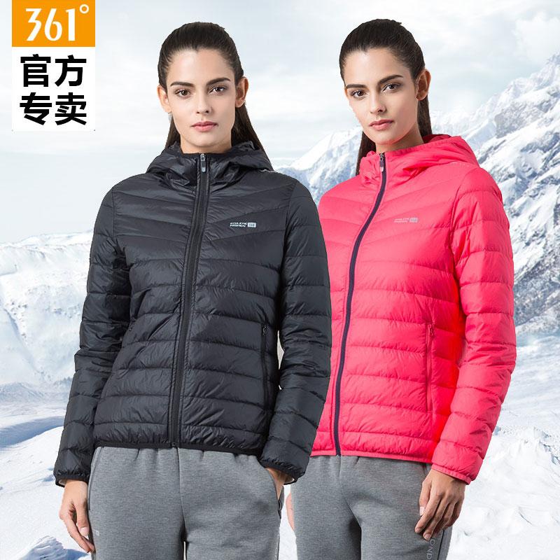 361度女裝2018官方正品冬季舒適保暖羽絨服361冬季時尚運動外套女