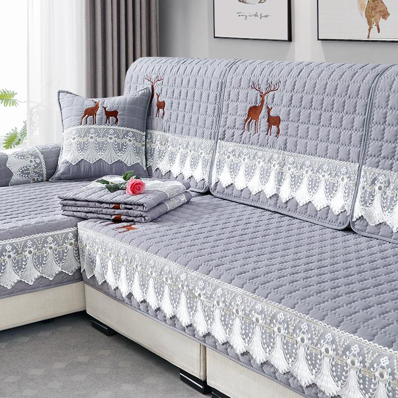 沙发垫四季通用布艺防滑皮木坐垫靠背巾北欧全包万能沙发套罩一套