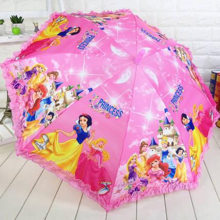 男女童儿童雨伞卡通可爱长柄伞小学生自动晴雨伞小孩宝宝幼儿园伞