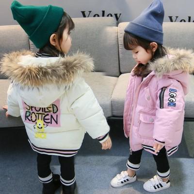 女童冬装棉衣2018新款韩版1-3岁女宝宝洋气时髦4儿童装加厚棉服潮