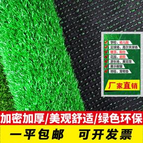 人造草坪仿真塑料假绿植幼儿园人工草皮户外阳台装饰绿色地毯垫M