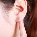 Platinum PT950 diamond ear nails single platinum single diamond ear bone earrings star fashion couple 3 cents custom