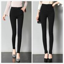 高个子女装170-175秋冬 收腹加长版打底裤超长外穿薄款高腰小脚裤