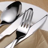 Stainless steel steak knife and fork spoon plate two full three-piece suit thickened household Western cutlery fork