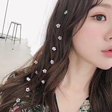 韩国ins网红发夹隐形流线长头发装饰发带甜美花朵淑女bb夹子发梳