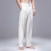 裤子男夏季薄款修身宽松夏凉长裤冰丝超薄运动韩版潮流男士休闲裤