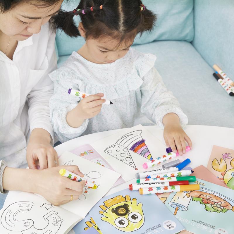 儿童画画书绘画画本数字描红本幼儿园涂色书填色涂鸦图画书3-6岁