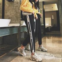运动裤女秋冬季2018新款ulzzang百搭学生韩版宽松显瘦加绒休闲裤