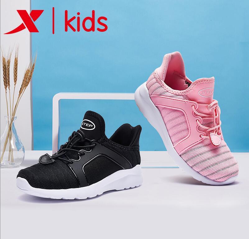 特步童鞋男女運動鞋2019新款網面透氣休閑軟底兒童大童鞋子跑步鞋
