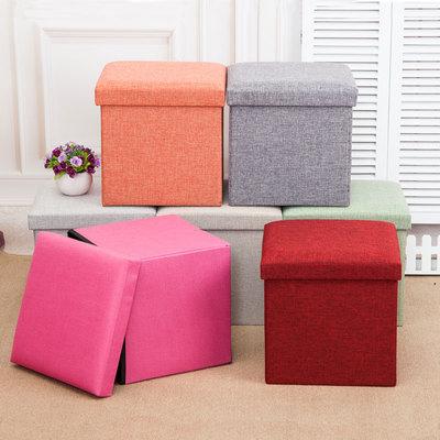 加强可折叠多功能收纳储物凳棉麻换鞋凳布艺长方形整理箱可坐凳子排行榜