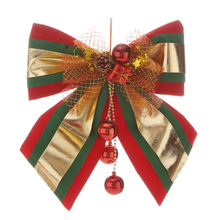 Christmas bow decoration shopping malls, supermarkets, large size red, green gold ornaments, Christmas products