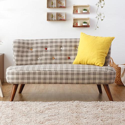 日式北欧小户型无扶手卧室房间单人双人三人咖啡厅小清新布艺沙发