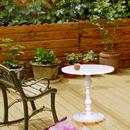 实木矮圆桌