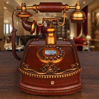 欧式仿古电话机美式时尚田园家用固定办公座机复古老式来显电话机