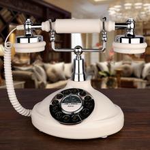 欧式仿古电话机座机家用办公固定电话老式按键复古一键重拨电话