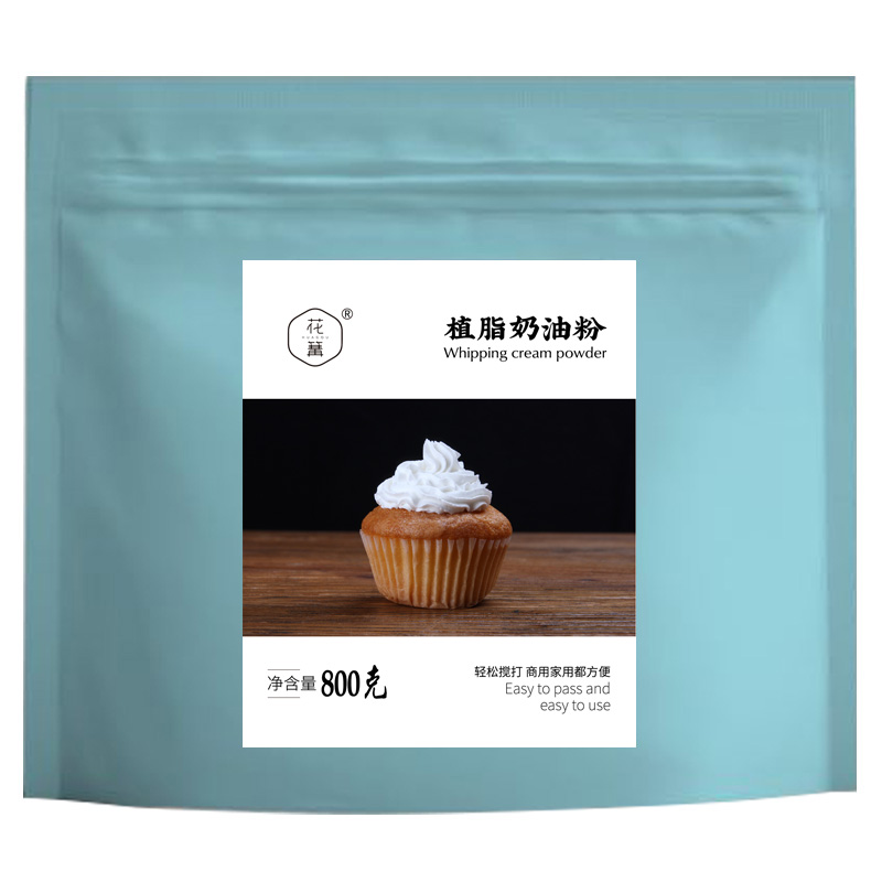 花篝植脂奶油粉800g商用奶油蛋糕房专用裱花淡奶油粉家用烘焙原料