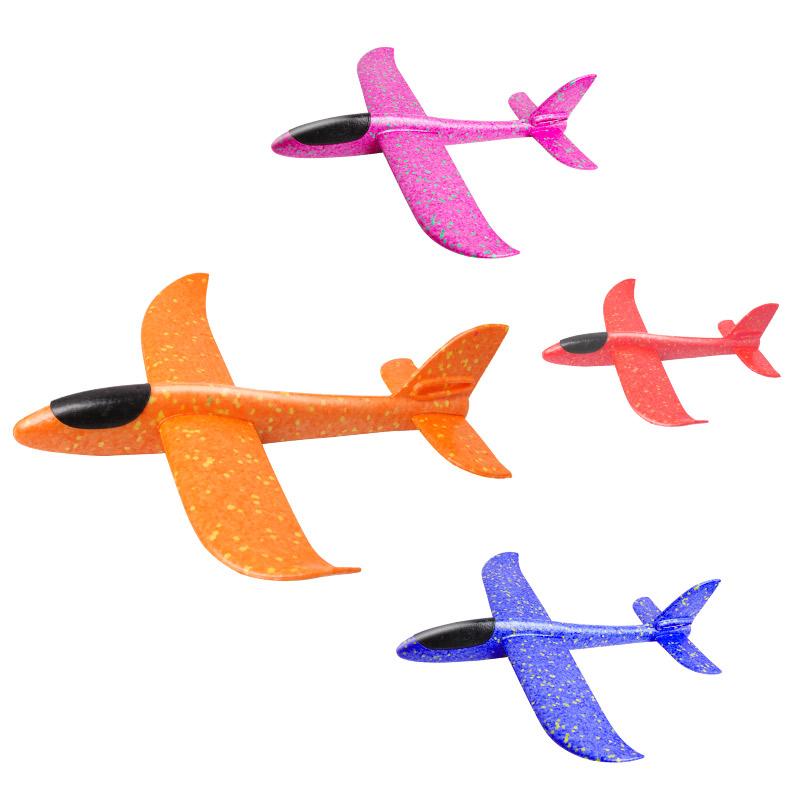 泡沫飞机模型手抛投掷回旋滑翔拼装航模儿童亲子网红男孩户外玩具