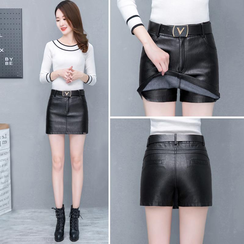 黑色中腰短裤裙