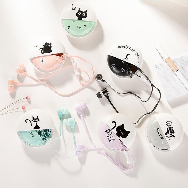 手机耳机入耳式通用女生萌萌可爱韩国迷你糖果色线控带麦游戏联浦