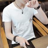 2018新款男士短袖t恤纯棉丅半袖个性韩版潮流夏季男装修身上衣服
