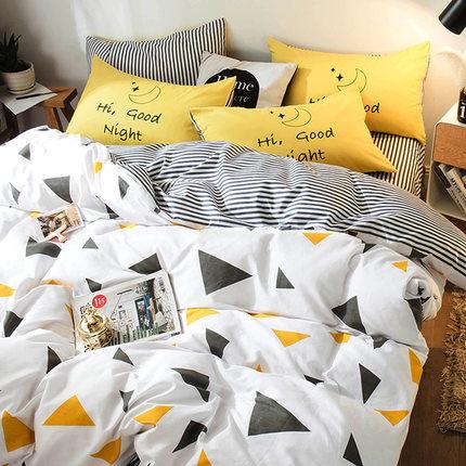 觉先生纯棉四件套全棉床品1.8m床上用品宿舍被套床单三件套1.5米