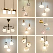 Lustres De Restaurant moderne minimaliste trois têtes créative table à manger lampe mode personnalité atmosphère salle à manger LED Lampes Salon