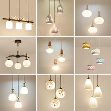餐厅吊灯现代简约三头创意餐桌灯时尚个性大气饭厅LED客厅灯具