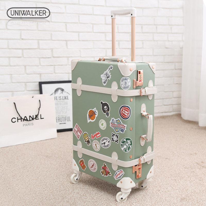韩国复古拉杆行李箱