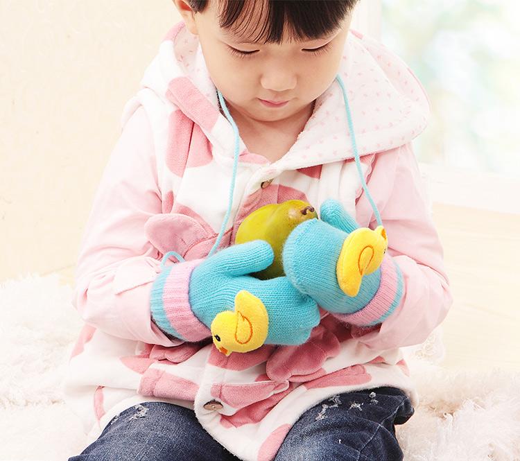 儿童手套宝宝手套冬季男孩女孩加厚加绒保暖卡通小孩公主学生手套