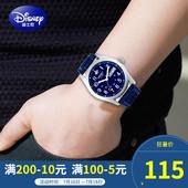 迪士尼儿童手表男孩防水男生石英表韩版简约初中学生日历男童手表