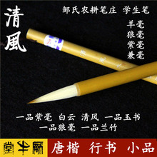 Zou's Agricultural Bizhuang Student's Brushes: Big, Middle and Small Baiyun Yushu, Qingfeng, Wolf, Orchid, Bamboo, Purple, Big, Small and Medium Size Bishu, Regular Bishu, Regular Bishu, Regular Bishu and Regular Bishu