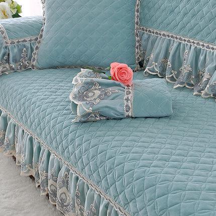 毛绒沙发垫冬季简约现代防滑全包萬能沙发罩巾套通用坐垫组合定制