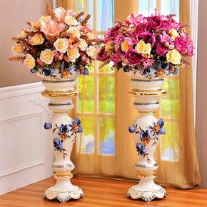 欧式落地大花瓶摆件摆设客厅干花插花高陶瓷电视柜家居装饰品花瓶
