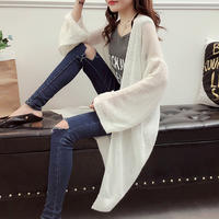 Pregnant women spring and summer pregnant women sweater Korean fashion in the long section of thin sunscreen clothing knitted jacket cardigan coat tide