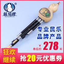 云南乐器专卖C降B小DGF调蓝孔雀演奏型黑檀木管葫芦丝