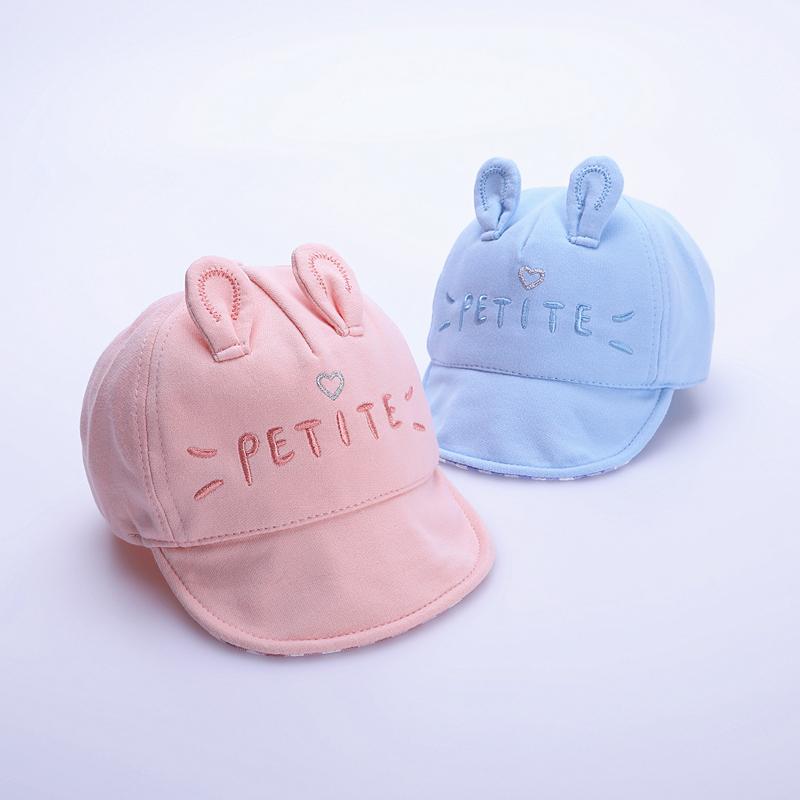 宝宝帽子春秋6个月-2岁1纯棉婴儿鸭舌帽软檐儿童帽男童女童棒球帽