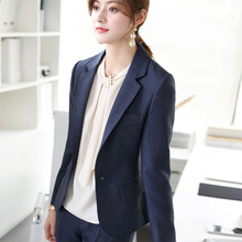 OFFIY-Key Japanese Style New Blue and Black Formal Professional Suit