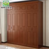 实木衣柜56门整体木质原木3三四4门大衣橱现代简约新中式卧室家具