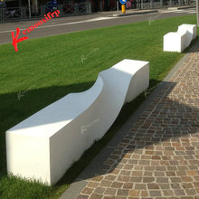 Twisted spiral bench FRP mall leisure bench outdoor landscape rest waiting seat shaped seat