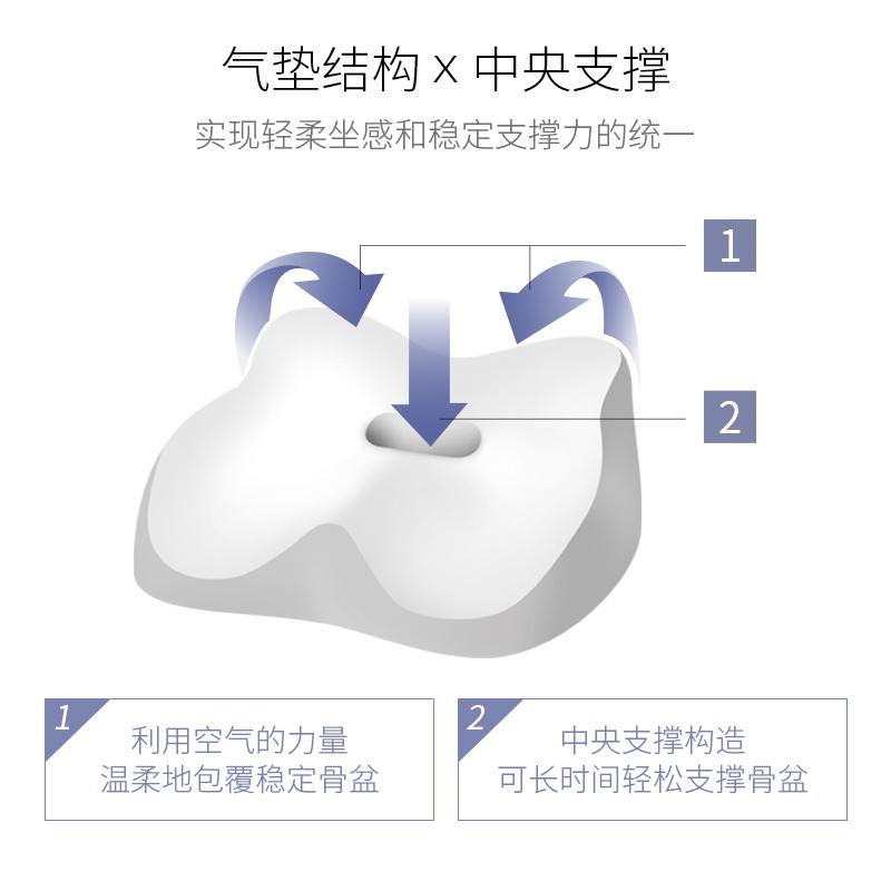 日本MTG Style AIR 矫姿护腰坐垫 空气版瑜伽球原理调整坐姿