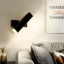 温馨挂墙灯现代简约拉线开关过道背景墙楼梯灯LED壁灯床头灯卧室