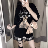 HoneyBunny tide brand bear small tiger bag chain slanting di bag backpack variety of back street hip hop