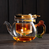 Deluxe version Taiwan 76 elegant cups teapot full washable filter liner tea pot heat-resistant glass tea set