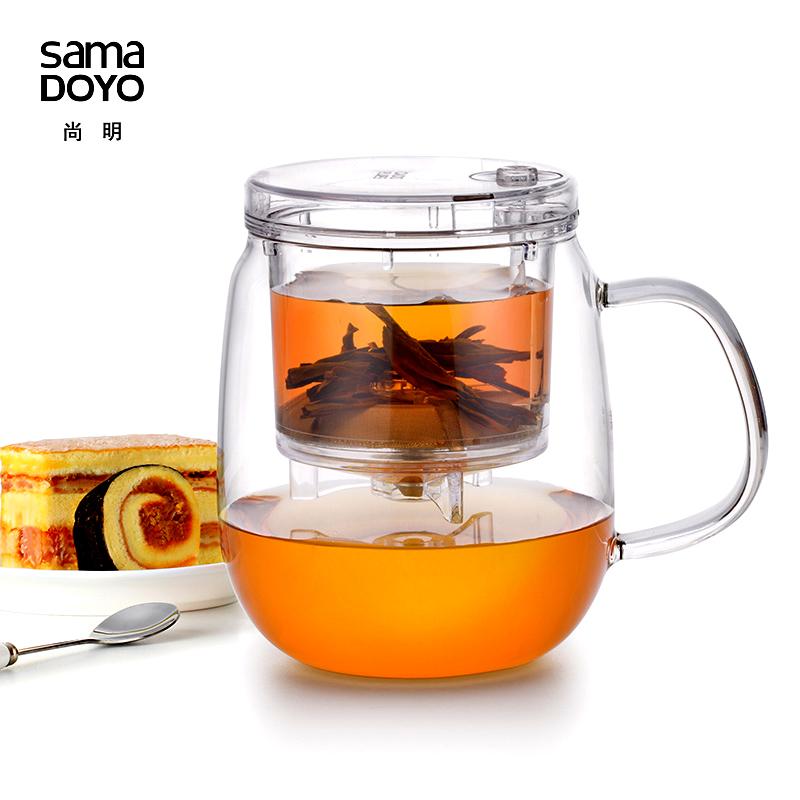 茶艺杯 茶水分离 玻璃