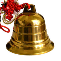 Zen Pavilion pure copper bell Bell Bell Lucky Fortune copper bell pendant safe home decoration decoration
