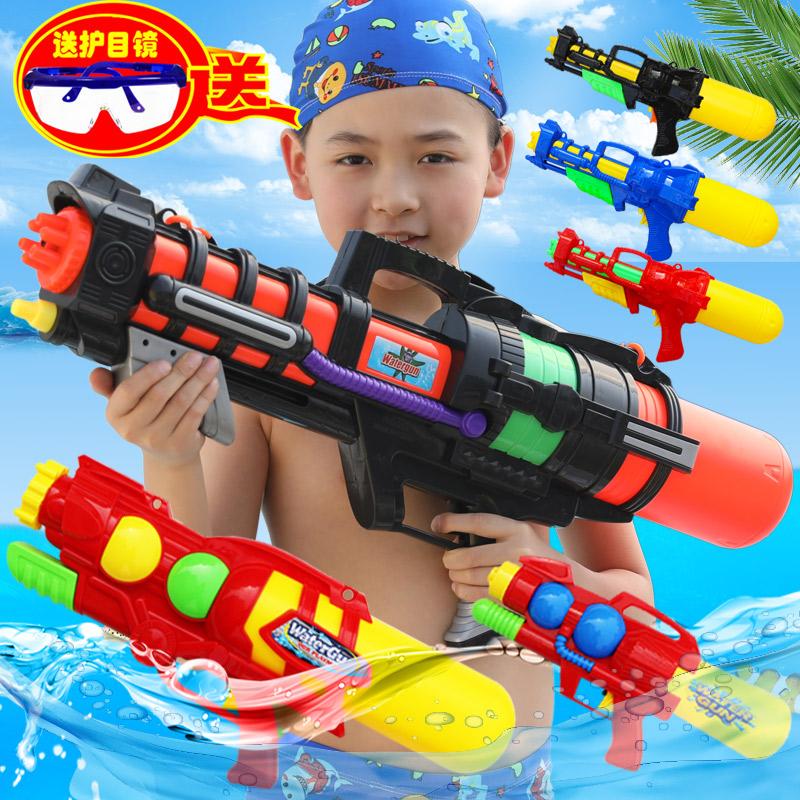 夏天儿童喷水枪玩具背包男女儿童高压抽拉玩沙水抢户外沙滩戏水枪
